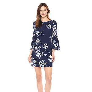 Eliza J Bell Sleeve Floral Dress Size 8